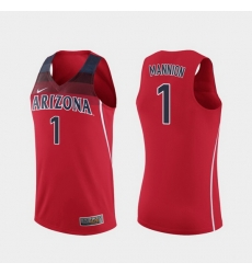 Men Arizona Wildcats Nico Mannion Replica Red College Basketball Jersey