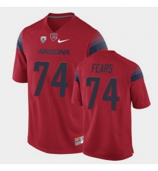 Men Arizona Wildcats Paiton Fears College Football Red Game Jersey