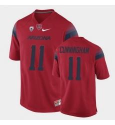 Men Arizona Wildcats Tayvian Cunningham College Football Red Game Jersey