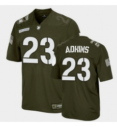 Men Army Black Knights Anthony Adkins Replica Rivalry Football Green Jersey