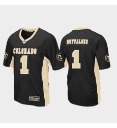 Men Colorado Buffaloes 1 Black Max Power Football Jersey