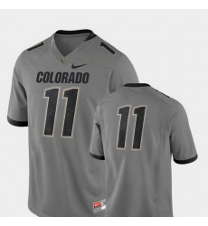 Men Colorado Buffaloes 11 Gray College Football 2018 Game Jersey