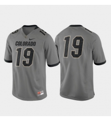 Men Colorado Buffaloes 19 Gray Game Alternate Jersey