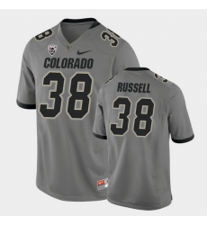 Men Colorado Buffaloes Brady Russell College Football Gray Alternate Game Jersey