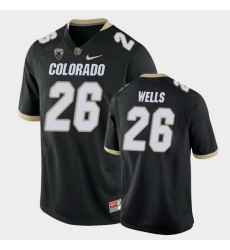 Men Colorado Buffaloes Carson Wells College Football Black Game Jersey