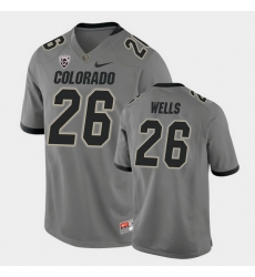 Men Colorado Buffaloes Carson Wells College Football Gray Alternate Game Jersey