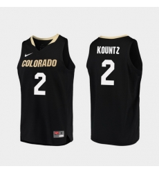 Men Colorado Buffaloes Daylen Kountz Black Replica College Basketball Jersey