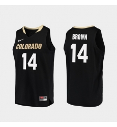 Men Colorado Buffaloes Deleon Brown Black Replica College Basketball Jersey