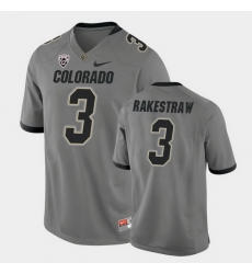 Men Colorado Buffaloes Derrion Rakestraw College Football Gray Alternate Game Jersey