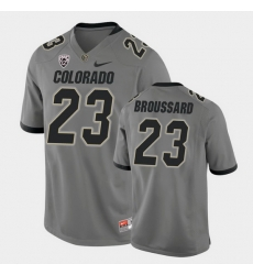 Men Colorado Buffaloes Jarek Broussard College Football Gray Alternate Game Jersey