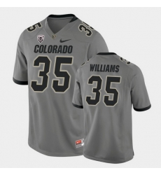 Men Colorado Buffaloes Mister Williams College Football Gray Alternate Game Jersey