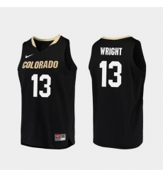Men Colorado Buffaloes Namon Wright Black Replica College Basketball Jersey