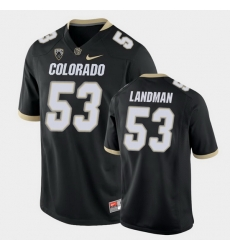 Men Colorado Buffaloes Nate Landman College Football Black Game Jersey