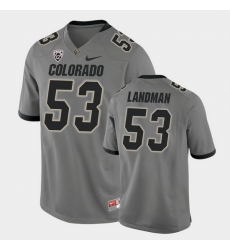 Men Colorado Buffaloes Nate Landman College Football Gray Alternate Game Jersey