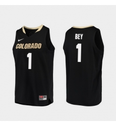 Men Colorado Buffaloes Tyler Bey Black Replica College Basketball Jersey