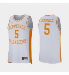 Men Tennessee Volunteers Admiral Schofield White Retro Performance College Basketball Jersey