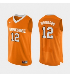 Men Tennessee Volunteers Brad Woodson Orange Authentic Performace College Basketball Jersey