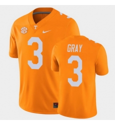 Men Tennessee Volunteers Eric Gray College Football Orange Alumni Player Game Jersey