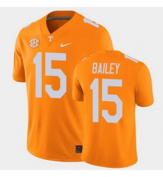 Men Tennessee Volunteers Harrison Bailey College Football Orange Alumni Player Game Jersey