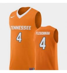 Men Tennessee Volunteers Jacob Fleschman Orange Replica College Basketball Jersey