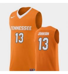 Men Tennessee Volunteers Jalen Johnson Orange Replica College Basketball Jersey