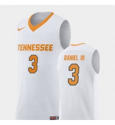 Men Tennessee Volunteers James Daniel Iii White Replica College Basketball Jersey