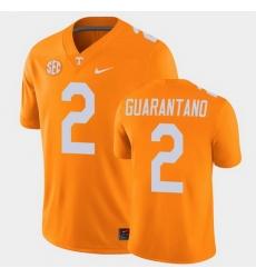 Men Tennessee Volunteers Jarrett Guarantano College Football Orange Alumni Player Game Jersey