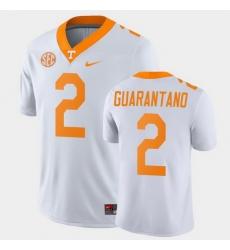 Men Tennessee Volunteers Jarrett Guarantano Game White College Football Jersey