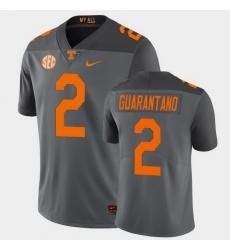 Men Tennessee Volunteers Jarrett Guarantano Limited Gray Football Jersey