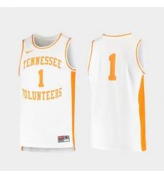 Men Tennessee Volunteers White Retro Replica College Baketball Jersey