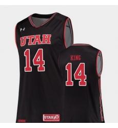 Men Utah Utes Brooks King Black Replica College Basketball Jersey