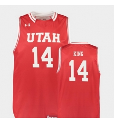 Men Utah Utes Brooks King Red Replica College Basketball Jersey