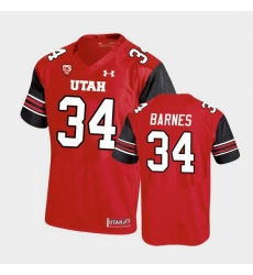 Men Utah Utes Bryson Barnes Premier Performance Football Red Jersey