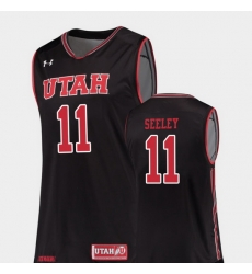Men Utah Utes Chris Seeley Black Replica College Basketball Jersey