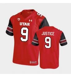 Men Utah Utes Cooper Justice Premier Performance Football Red Jersey