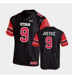 Men Utah Utes Cooper Justice Replica College Football Black Jersey