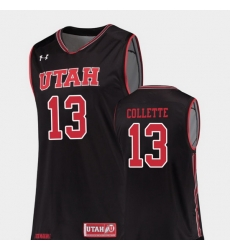 Men Utah Utes David Collette Black Replica College Basketball Jersey