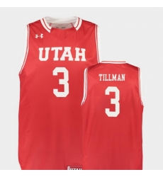 Men Utah Utes Donnie Tillman Red Replica College Basketball Jersey