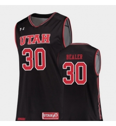Men Utah Utes Gabe Bealer Black Replica College Basketball Jersey