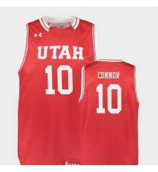 Men Utah Utes Jake Connor Red Replica College Basketball Jersey