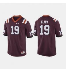 Men Virginia Tech Hokies Chuck Clark College Football Maroon Jersey