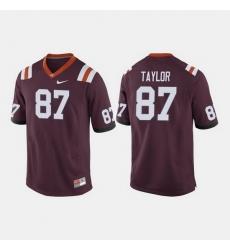 Men Virginia Tech Hokies Colton Taylor College Football Maroon Jersey