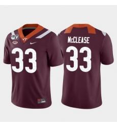 Men Virginia Tech Hokies Deshawn Mcclease 33 Maroon Game College Football Jersey