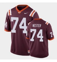 Men Virginia Tech Hokies Doug Nester Replica Maroon Football Game Jersey