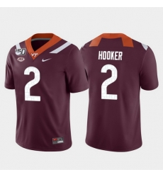 Men Virginia Tech Hokies Hendon Hooker 2 Maroon Game College Football Jersey