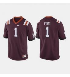 Men Virginia Tech Hokies Isaiah Ford College Football Maroon Jersey