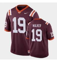 Men Virginia Tech Hokies J.R. Walker Replica Maroon Football Game Jersey