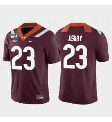 Men Virginia Tech Hokies Rayshard Ashby 23 Maroon Game College Football Jersey
