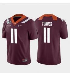 Men Virginia Tech Hokies Tre Turner 11 Maroon Game College Football Jersey