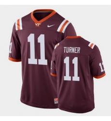 Men Virginia Tech Hokies Tre Turner Replica Maroon Football Game Jersey
